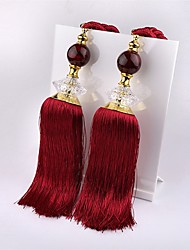 1 Pair Bowlder Beaded Tassels Tieback Curtain Cord Home Textiles Window Treatments