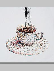 Недорогие -ручной росписью чашку кофе холст картины маслом современного абстрактного искусства стены с натянутой рамы готовы повесить