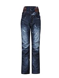 Gsou NIEVE® Ropa de Esquí Pantalones/Sobrepantalón Mujer Moda de Invierno Poliéster Vaqueros Ropa de InviernoImpermeable / Transpirable /
