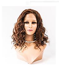 billige -Menneskehår Blonde Front Paryk Bølget Paryk 120% Ombre-hår / Natural Hairline / Afro-amerikansk paryk Dame Medium Blondeparykker af menneskehår / 100 % håndbundet