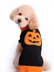 preiswerte -Katze Hund Pullover Hundekleidung Kürbis Schwarz Baumwolle Kostüm Für Haustiere Herrn Damen Niedlich Halloween