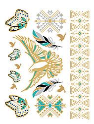 economico -1 Tatuaggi adesivi Serie fiori Non Toxic / Waterproof / Metallico / MatrimonioDa donna / Da uomo / Adulto / Teen Tattoo FlashTatuaggi