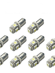 cheap -10pcs BA9S 5050 5SMD White Color Car Led Light Auto Bulb Indicator License Plate Map Dome Packing Car Styling 12V