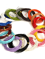 cheap -Beadia 5 Mts 1mm Round Leather Cord & Wire & String (16 Colors)