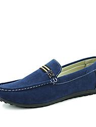 Черный / Синий / Хаки Мужская обувь На каждый день Замша На плокой подошве