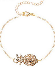 Kiming Korean Seweet Gold/Silver Chain Pineapple Fruit Shape Bracelet Jewelry