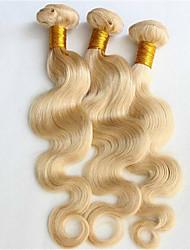 billige -3 Bundler Brasiliansk hår Krop Bølge Menneskehår, Bølget Menneskehår Vævninger Menneskehår Extensions
