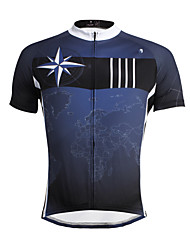 cheap -ILPALADINO Cycling Jersey Men's Short Sleeves Bike Jersey Top Bike Wear Quick Dry Ultraviolet Resistant Breathable Soft Reduces Chafing