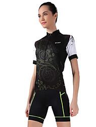 Maglia con pantaloncini da ciclismo Per donna Manica corta Bicicletta Maglietta/Maglia Pantaloncini /Cosciali Top Pantaloni Set di vestiti