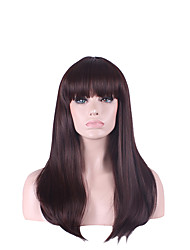 お買い得  -人工毛ウィッグ ストレート バング付き 合成 かつら 女性用 ハロウィンウィッグ / カーニバルウィッグ キャップレス