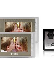"""tmax® 7 """"lcd fotografando videocitofono con 500TVL macchina fotografica di visione notturna (1camera a 2monitors)"""