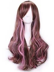 cheap -Harajuku Bangs Wig Femme Anime Ombre Cheap Cosplay Wigs Natural Sex Products Wigs Brown Pink Synthetic Hair Wigs
