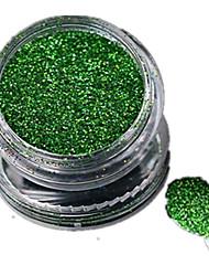 1 Bottle Nail Art Laser Green Glitter Shining Powder Manicure Makeup Decoration Nail Beauty L05