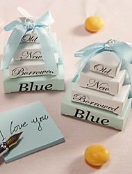 20pcs/set Something Blue Memo Notepad Favor 5x5x5cm/pcs Beter Gifts  Party Door Gifts
