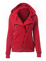 cheap -Women's Basic Hoodie Jacket - Solid Colored / Spring / Fall