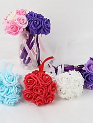 """cheap -Wedding Flowers Bouquets Wedding Elastic Satin / Foam / Satin 8.66""""(Approx.22cm)"""