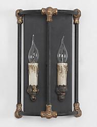 economico -lampada industriale amercian campagna annata teste parete metallica tradizionale per applique da parete decorare