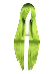 Parrucche Cosplay Buona stella Grell Sutcliff Verde Lungo Anime Parrucche Cosplay 100 CM Tessuno resistente a calore Uomo / Donna