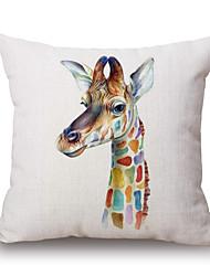 cheap -pcs Cotton/Linen Pillow Cover,Wildlife Graphic Prints Casual Modern/Contemporary