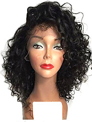 cheap -TOP!!! Short Natural Black Color Bob Afro Curly Lace Front Wigs Heat Resistant Synthetic Hair Wigs For Women
