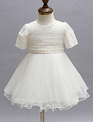 2pcs Baby Girl's White/Red Dress, Bow Polyester All Seasons