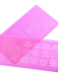 Nail Art Nail Sticker Udstansede Manicure Stencil / 3D Negle Akryl Forme