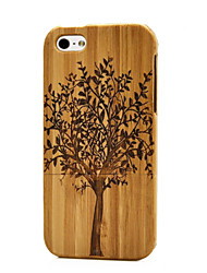 cheap -Handmade Natural Wood Wooden Flesh Hard bamboo Case Cover for iPhone 5/5S