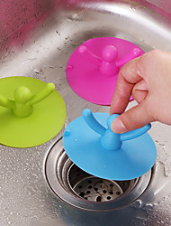 cheap -Cup  cover Silicone Can Pool Water Plugging Plug  Kitchen Bathroom Odor Sewer Lid Random Color