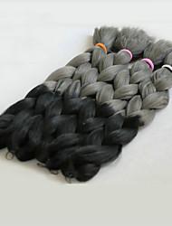baratos -Cabelo para Trançar Tranças de caixa Tranças Jumbo / Extensões de Cabelo Natural 100% cabelo kanekalon Tranças de cabelo Diário