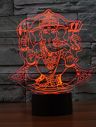 LED  Touch Table Lamp for Christmas Atmosphere 3D Night Light Lampara Touch Lamp Color-Changing Night Light