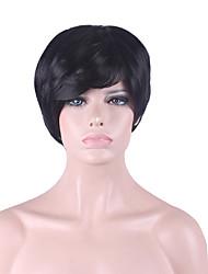baratos -mais vendido da Europa e os Estados Unidos cos homens peruca curta peruca preta de 3 polegadas