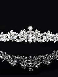 cheap -Brass Crystal Rhinestone Tiaras 1 Wedding Special Occasion Headpiece