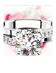 1CT SONA Diamond Ring Across Design 4Prongs Setting Engagement Jewelry Sterling Silver Micro Paved Mount Pt950 Stamped