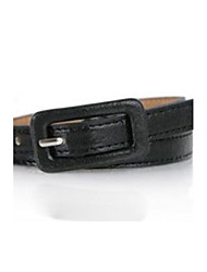 cheap -Women's Cute Leather Skinny Belt - Solid Colored
