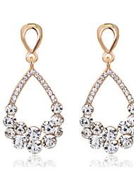 baratos -Mulheres Brinco - Fashion Branco Para Casamento / Festa / Diário / Diamante / Multi-Pedras / Zircão