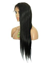 """8 """"-26"""" cheveux vierges droite sans colle perruque  avant de lacet brésilien avec des cheveux de bébé pour les femmes noires"""