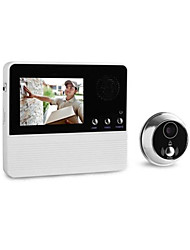 cheap -3.2-Inch Intelligent Cat's-Eye Burglar 32 Selectable Music Electronic Cat High-Resolution Color Lcd Video Doorbell