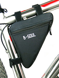B-SOUL Bike BagBike Frame Bag Waterproof Zipper Moistureproof Shockproof Wearable Bicycle Bag Polyester PVC Terylene Cycle Bag