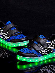cheap -LED Light Up Shoes, Boys' Shoes Wedding / Outdoor / Casual PU / Synthetic Flats Spring / Summer / Fall / Winter Comfort Magic shoes