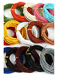 cheap -Beadia 5 Mts 2mm Round Leather Cord & Wire & String (15 Colors)