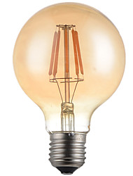 1pcs 6W E26/E27 LED Filament Bulbs G95 6 High Power LED 560lm Warm White 2300K-2700K Decorative AC220-240V