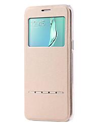economico -DE JI Custodia Per Samsung Galaxy Samsung Galaxy S7 Edge Con supporto / Con sportello visore / Con chiusura magnetica Integrale Tinta unita pelle sintetica per S7 edge / S7 / S6 edge plus