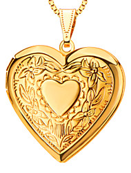 cheap -Women's Lockets Necklace / Pendant - Heart, Love Pendant For Daily
