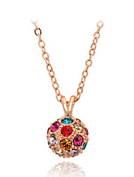cheap -Men's Women's Shape Cute Party Work Casual Colorful Fashion Adorable Pendant Necklace Crystal Crystal Imitation Pearl Cubic Zirconia Alloy