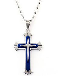 Недорогие -Муж. Кулоны Крест Нержавеющая сталь Металл Мода Бижутерия Назначение На каждый день