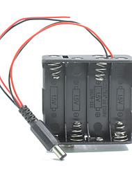 двойной выход 8 * держатель батареи AA случай ш штепсельной вилки для Arduino /