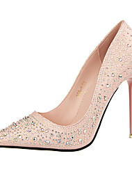 Women's Shoes Pumps Sweet Elegant Glitters Stiletto Heel Comfort / Pointed Toe Heels Office & Career / Dress