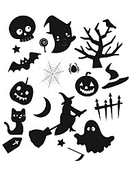 aw9425 Halloween Animals Stickers Home Wall Decal Halloween Party Vinyl Wall Stickers for Shop Window