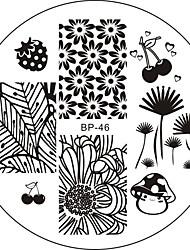 baratos -Nail Art Stamping Placa Stamper raspador 6*6*0.1