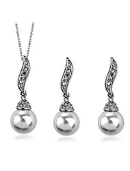 cheap -Women's Jewelry Set Necklace/Earrings Casual Fashion Daily Casual Pearl Imitation Pearl Alloy Earrings Necklaces